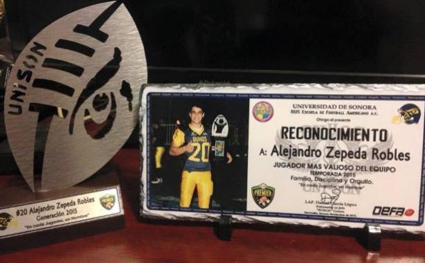 Alejandro Zepeda representa a la UNISON en el Tazón de Estrellas
