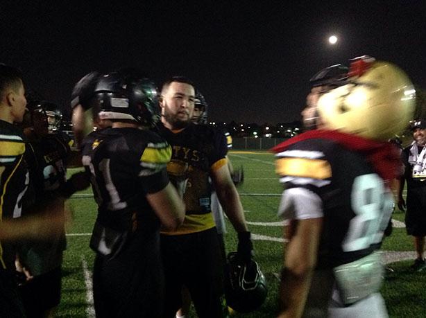 Los jugadores del CETYS Tijuana al término de su práctica