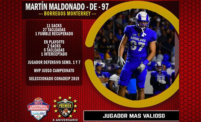 Martín Maldonado #97 Borregos Monterrey Jugador Más Valioso