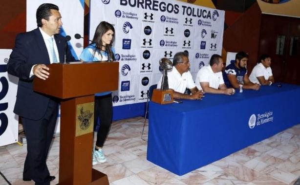 Aspectos de la ceremonia de presentación de los Borregos Toluca