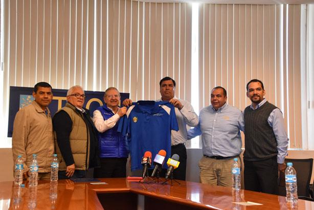 HC César Martínez en su presentación con las autoridades del ITSON