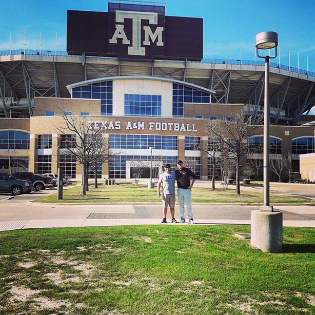 Borregos Monterrey visitó la Universidad de Texas A&M
