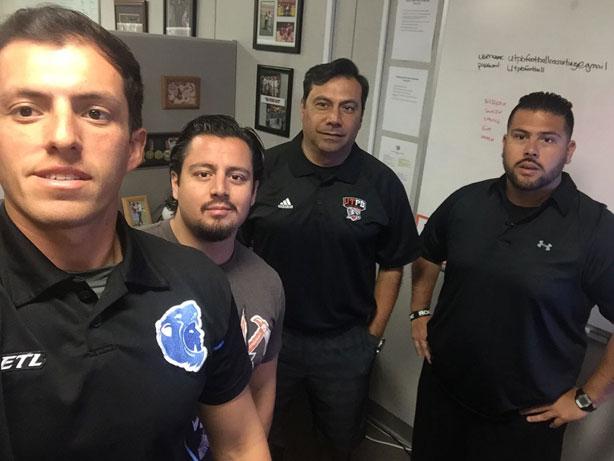 Coach Pedro Ramírez y su staff en sus clínicas internacionales