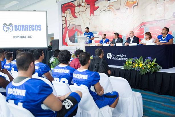Aspectos de la presentación de los Borregos Puebla