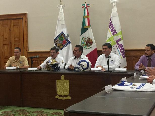 El gobernador de Nuevo León Jaime Rodríguez durante el evento