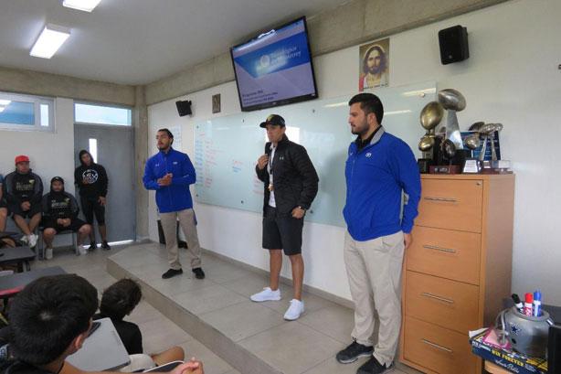 Los Guerreros Jaguar conocieron sobre el programa de Borregos México