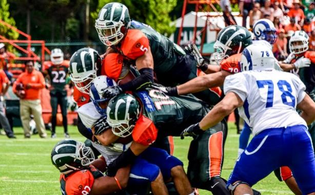 Aztecas venció apretadamente a los Borregos Monterrey