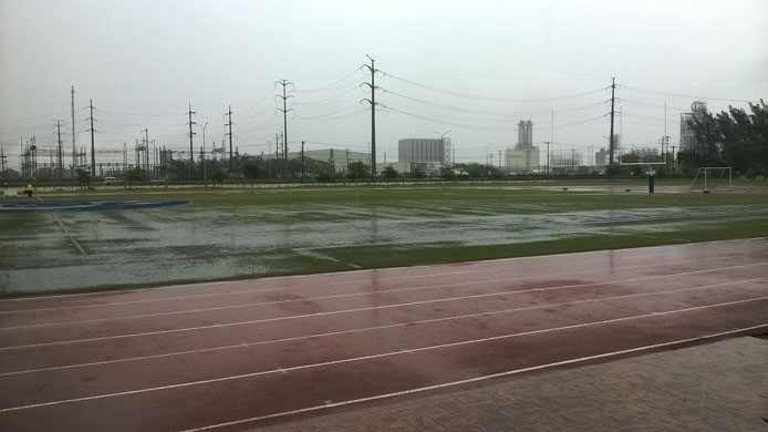 Mucha lluvia para el partido entre Tampico y los Leones del LBM
