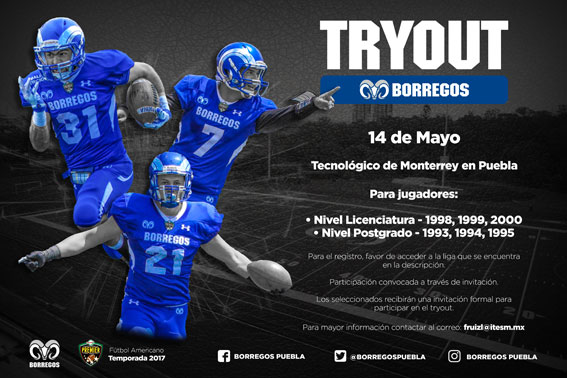 Try Out Borregos Puebla